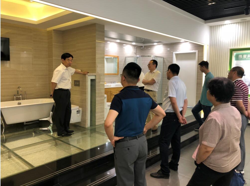 天津建材协会及管道理事单位领导莅临天津伟星参观交流