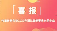 """伟星新材荣获2020年""""浙江省新零售示范企业""""称号"""