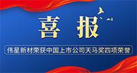 """喜报!伟星新材荣获天马奖中国上市公司  """"最佳投资者关系奖""""等多项荣誉!"""